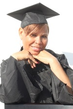photo of Pam Newton in cap and gown